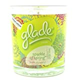 Glade Limited Edition Scented Candle Sparkle of Spring with Zesty Lime Ginger and Vanilla 4 Oz. (1 Each)