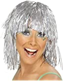 Adults or Childs Economy Silver Foil Tinsel Costume Wig