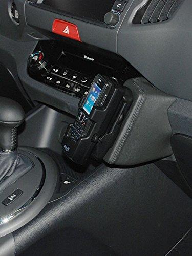 Kuda-Telefonkonsole-fr-Kia-Sportage-ab-0710-Kunstleder-Schwarz
