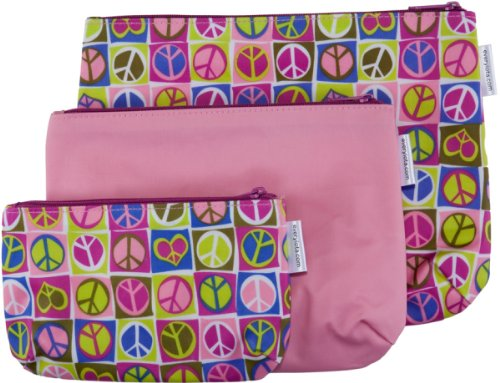 Iota Set of 3 Organizer Bags with Zippers, Dolly Lama