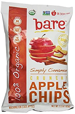 Bare Organic Cinnamon Apple Chips, Gluten-Free + Baked, 2.2-Ounce Bags (Pack of 12)