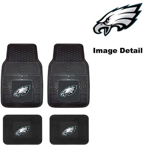 Nfl Philadelphia Eagles Car Floor Mats Heavy Duty 4-Piece Vinyl - Front And Rear front-294696
