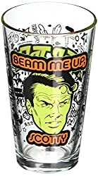 ICUP Star Trek Beam Me Up Scotty Pint Glass