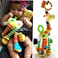 HENGSONG Stroller Hanging Musical Toy Giraffe Hanging Bell Crib Rattle Toy Chew Toy from mei_mei9
