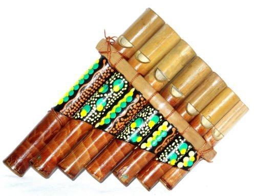 Flauto di Pan bambù strumento musica legno artigianato Panpipes Bamboo Flauta