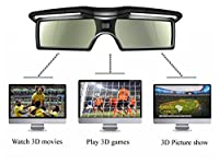 4 pairs 3D Active Glasses FOR SONY TV Models replace to TDG-BT500A TDG-BT400A TDGBT400A TDGBT500A Christmas Party , Gaming, Movie , Gathering , 3d entertaining by TV from oem