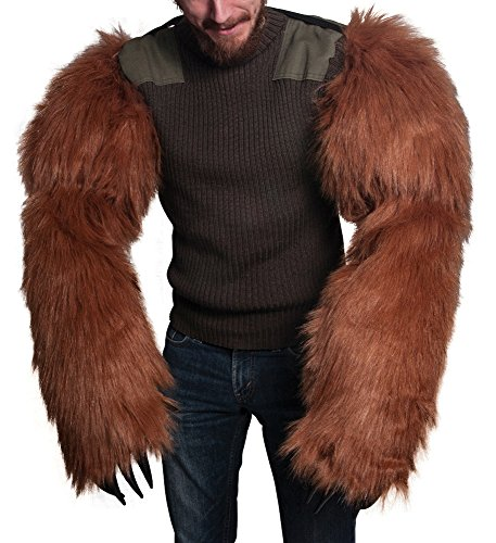 Morbid Enterprises Bear Arms, Brown/Black, One Size (Bear Arms Costume)
