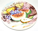 Vintage Ucagco Fruit Bowl Scene Decorative Collectible 8 5/8