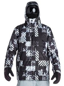 Snow Jacket Men Quiksilver Mission 10K Aop Atom Jacket
