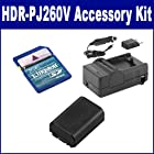 Sony HDR-PJ260V Camcorder Accessory Kit includes: SDM-109 Charger
