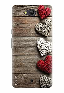 LYF WATER 4 BACK COVER FOR LYF WATER 4 / Patterns & Ethnic / Wooden Hearts Design - (VD-55) By Noise