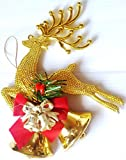 Reindeer Deer Bells Christmas Tree Hanging Ornament Party Xmas Decoration Bauble