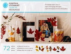 Plaid Martha Stewart 72-Piece Decoupage Paper Cutouts Leaves