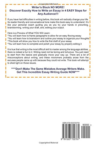 ESSAY WRITING - How to Write an Essay in 4 SIMPLE Steps in Any Subject: Volume 1 (Essay Writing, Essays, Essay, How to Write Essays)