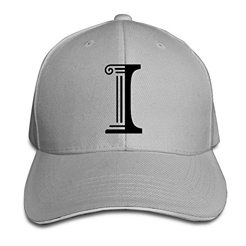 Hotgirl4 Adult University Of Illinois Urbana I Logo Reversed Baseball Cap Ash