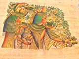 Rare large Tree Goddesses of ancient Egypt Art Painting on Papyrus Plant