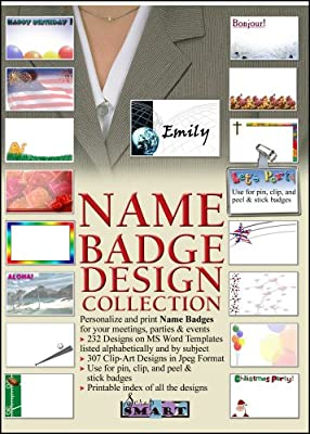 ScrapSMART - Name Badge Designs - Software Collection - Jpeg & Microsoft Word files for Mac [Download]