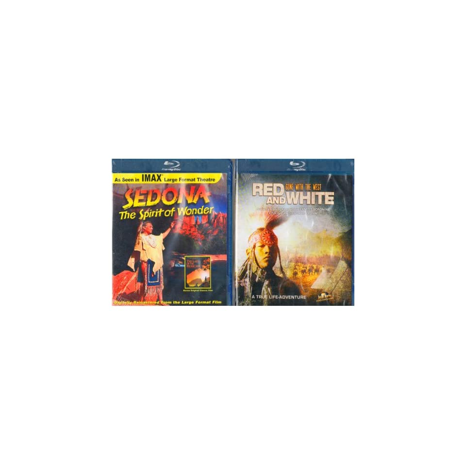 Sedona  The Spirit of Wonder Blu Ray , Red & White  Gone with the West Blu Ray  Marias River Massacre in Montana , Custers Last Stand , Little Big Horn , Sitting Bull , Buffalo Bill   Native American Culture and History 2 Pack  Blu Ray Gift Set