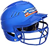 Rawlings CFBHFG COOLFLO® One Size Fits All Batting Helmet with NOCSAE® Faceguard