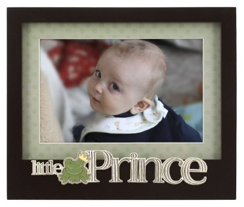Malden Baby Memories Black Wood Picture Frame, Little Prince, 4 By 6-Inch