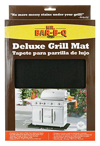 Mr. Bar-B-Q, Inc. 40124X Large BBQ Grill Mat, 30-Inch By 60-Inch