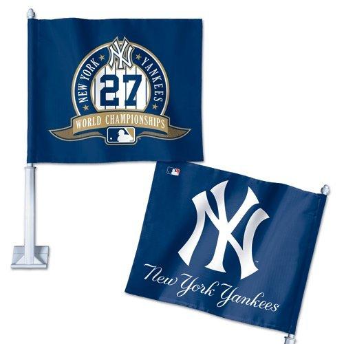 New York Yankees Official MLB 14 Car Flag by Wincraft upper deck texas rangers 2008 mlb peterbilt tractor trailer