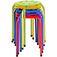 5-Pack Norwood Commercial Furniture Plastic Stack Stools