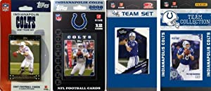 NFL Indianapolis Colts 4 Different Licensed Trading Card Team Sets by C&I Collectables