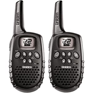 Uniden 16-Mile 22 Channel Battery FRS/GMRS Two-Way Radio Pair - Black