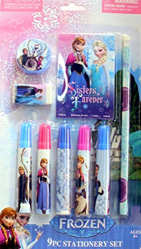Disney Frozen Sisters Forever 9pc Stationery Set - 1