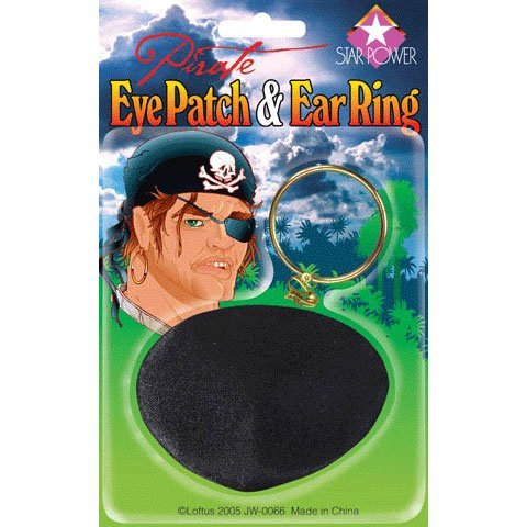 Eyepatch w/Earring (1 per package) - 1