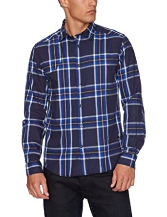 Jack and Jones Silas Men's Shirt Navy Blue X-Large