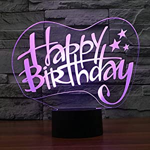 3D Visualization Amazing Glow LED Lamp Birthday Gift-7 Colors Change Kids Room Art Sculpture 3D Glow Night Light from Sunki