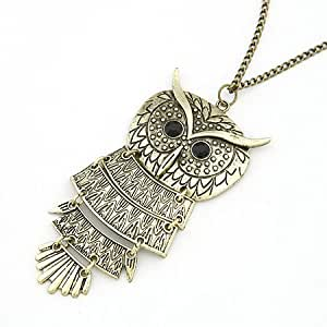 Amazon.com: Collares Mujer Vintage Owl Pendant Necklace Collier