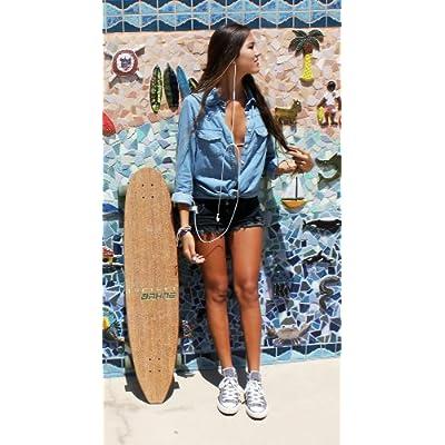 Amazon.com: Bahne Bamboo Tiki Classic LongBoard Skateboard