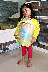 PIGLOO Kids Long Sleeved Waterproof Smock Apron Bib for Painting, Art & Craft, Eating, Age: 3-5 Years (Pattern: Sheep)