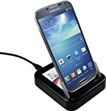 mumbi USB Dockingstation Samsung Galaxy S4 Dock / Tischladestation mit EXTRA Akkuladefach