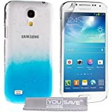 Yousave Accessories Coque rigide pour Samsung Galaxy S4 Mini Bleu/Transparent