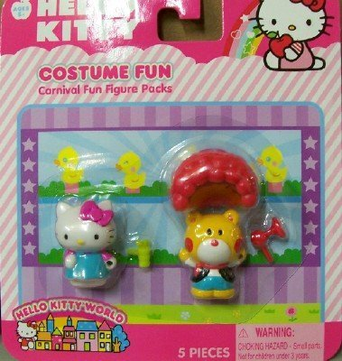 HELLO KITTY CARNIVAL FUN FIGURE PACKS - COSTUME FUN by Jakks Pacific