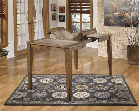 Brazenton brown counter height butterfly ext dining table for Kitchen table with insert