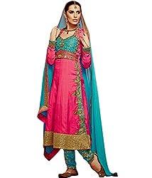 Shelina exclusive women Pink satin salwar suit