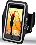 """IPhone 6 SPORTS Armband - Running & Exercise & Gym Black Sportband (4.7"""") 2 x ID / Credit Card / Money Holder & Key Holder - Best Sweat Proof & Water Resistant & Reflective band [Lifetime Warranty]"""