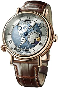 Breguet Classique Hora Mundi Men's Rose Gold Automatic Dual Time Zone Watch 5717BR/US/9ZU