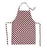 Rudham Aprons Cotton Checkered 2 Pieces ( Red White )
