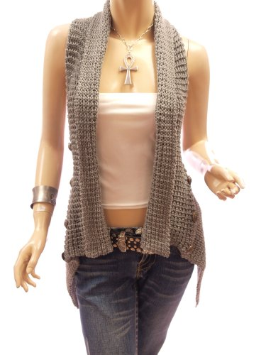 Sleeveless Cowl Neck Sweater