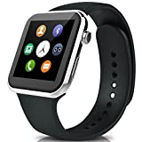 Lincass Bluetooth Smartwatch for Iphone and Android Heart Rate Monitor smart watches IP67 waterproof for Android IOS (Silver)