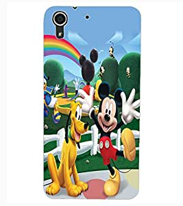 ColourCraft Lovely Cartoon Character Design Back Case Cover for HTC DESIRE 626G+