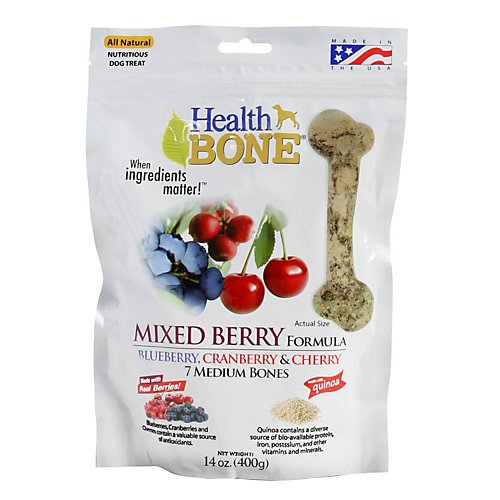 Picture Omega Paw Health Bone Small Berry Dog Treats, 14-Ounce