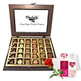 Marvelous Creation Of Chocolates With Love Card And Rose - Chocholik Belgium Chocolates