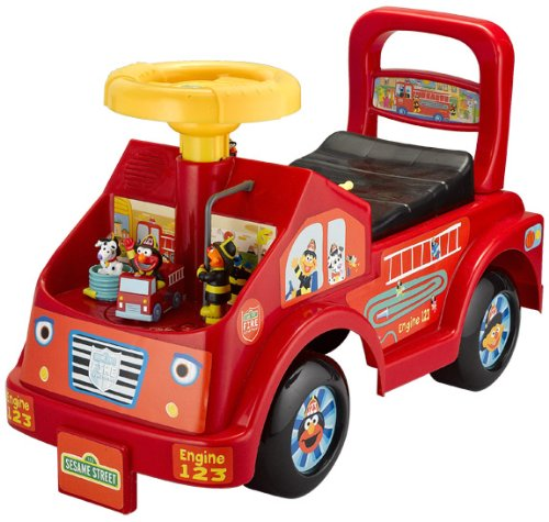 Review Tek Nek Sesame Fire Truck Fun Ride On This Shopping